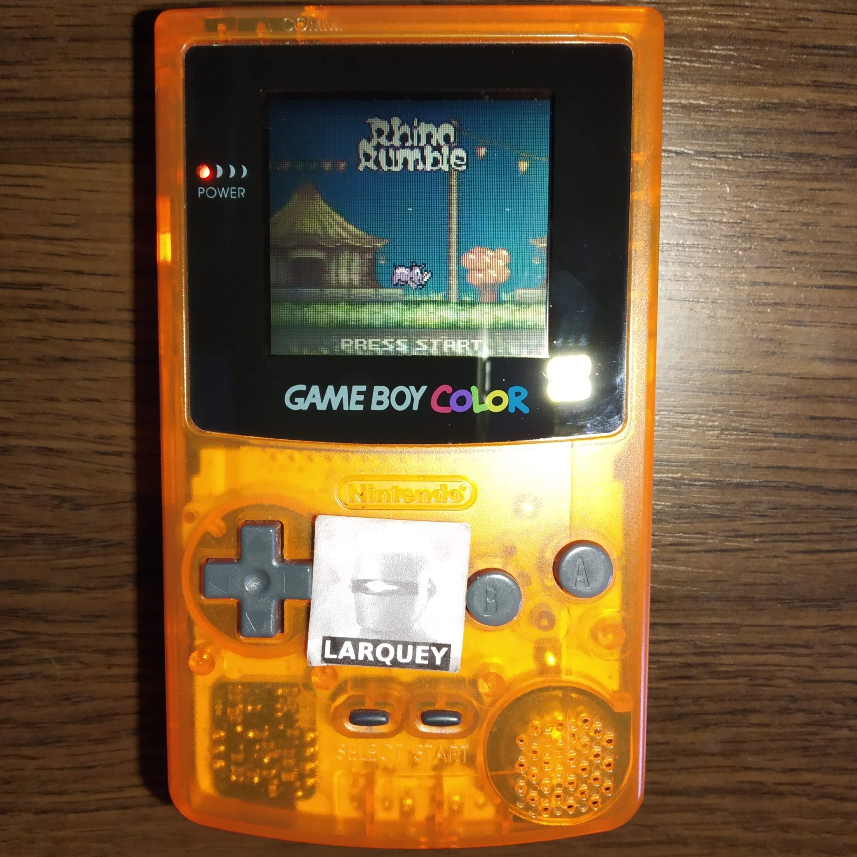 Larquey: Rhino Rumble (Game Boy Color) 404 points on 2020-07-23 08:18:04