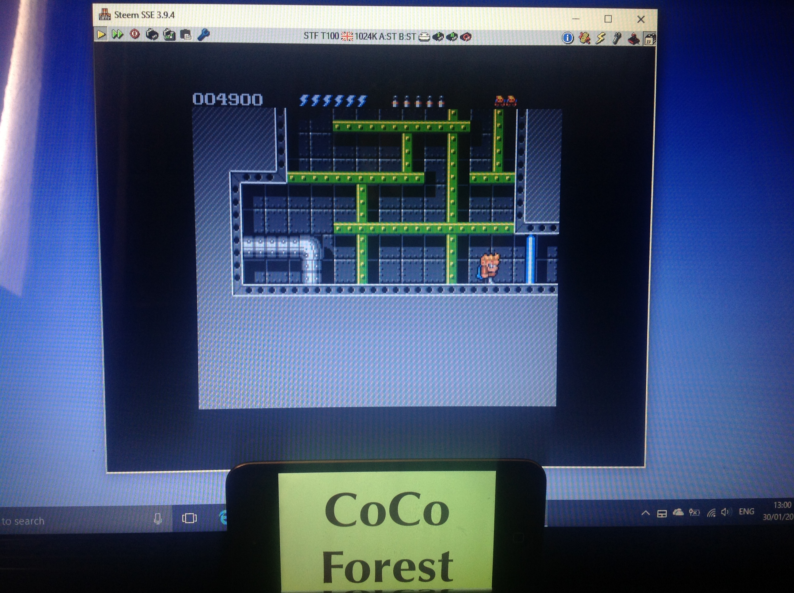 CoCoForest: Rick Dangerous II (Atari ST Emulated) 4,900 points on 2018-01-30 07:03:24