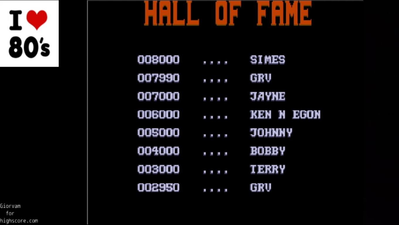 Giorvam: Rick Dangerous II (Atari ST Emulated) 7,990 points on 2020-03-09 13:43:24