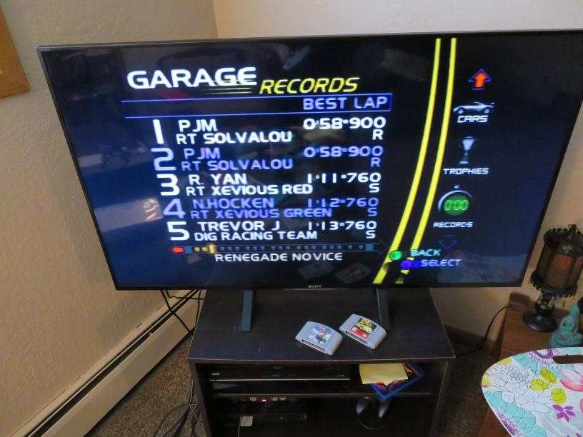 Ridge Racer 64: Time Attack [Renegade Novice /  Fastest Lap] time of 0:00:58.9