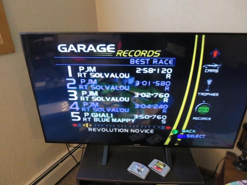 gbpxl: Ridge Racer 64: Time Attack [Revolution Novice / 3 Laps] (N64) 0:02:58.12 points on 2017-10-29 15:23:38