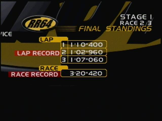 derek: Ridge Racer 64: Time Attack [Revolution Novice / Fastest Lap] (N64) 0:01:02.96 points on 2016-04-13 16:35:04