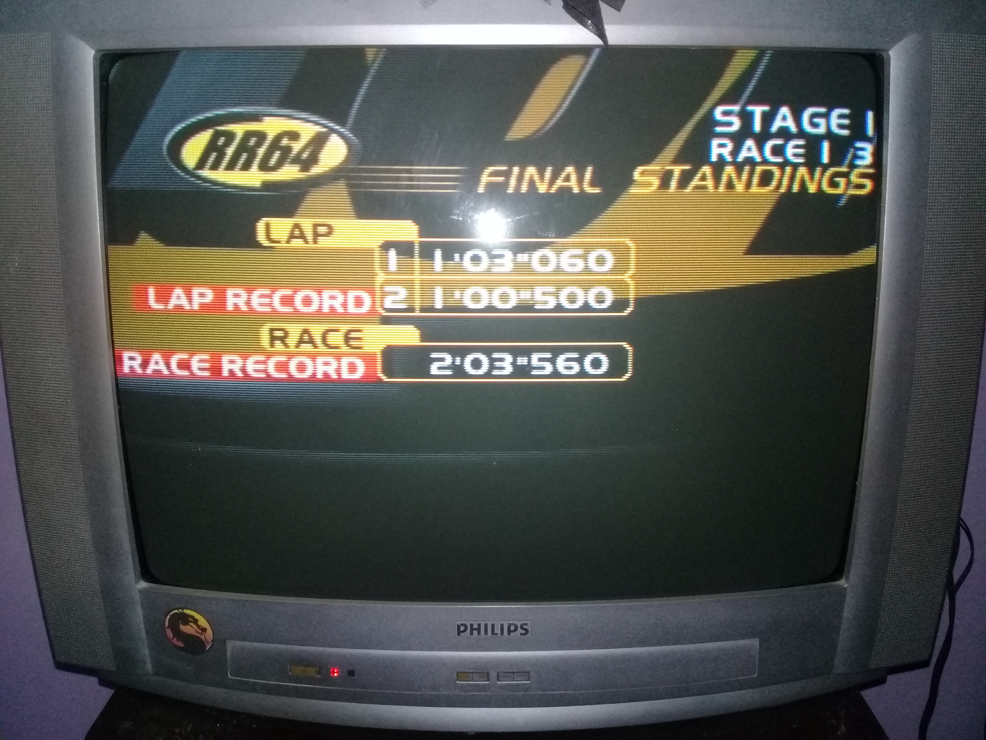 omargeddon: Ridge Racer 64: Time Attack [Ridge Racer Novice / 2 Laps] (N64) 0:02:03.56 points on 2020-05-09 21:27:30