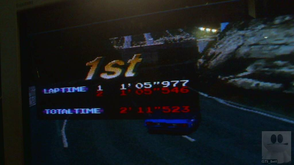 Ridge Racer: Beginner time of 0:02:11.523