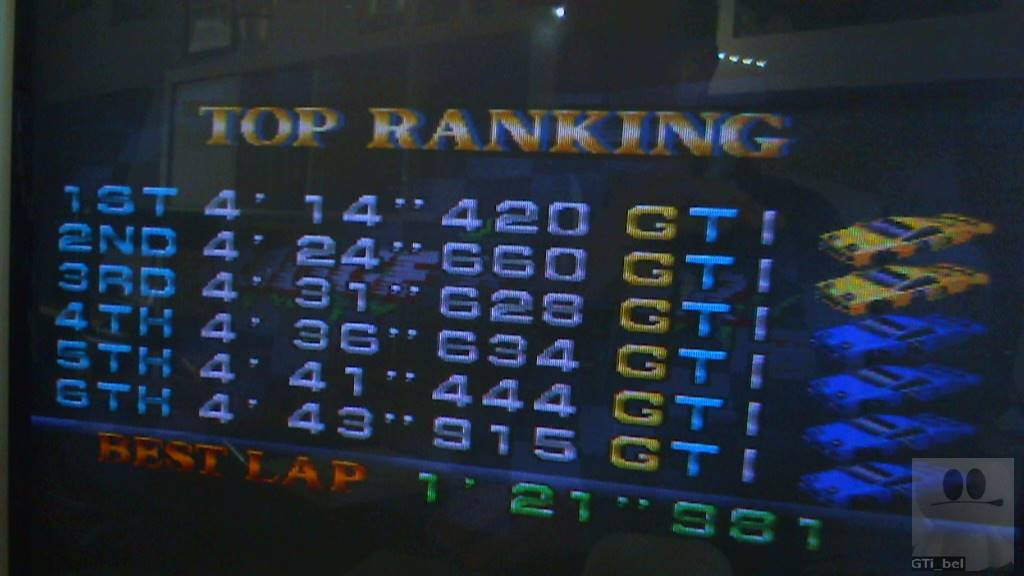 GTibel: Ridge Racer: T.T. (Playstation 1) 0:04:14.42 points on 2018-05-16 10:18:45
