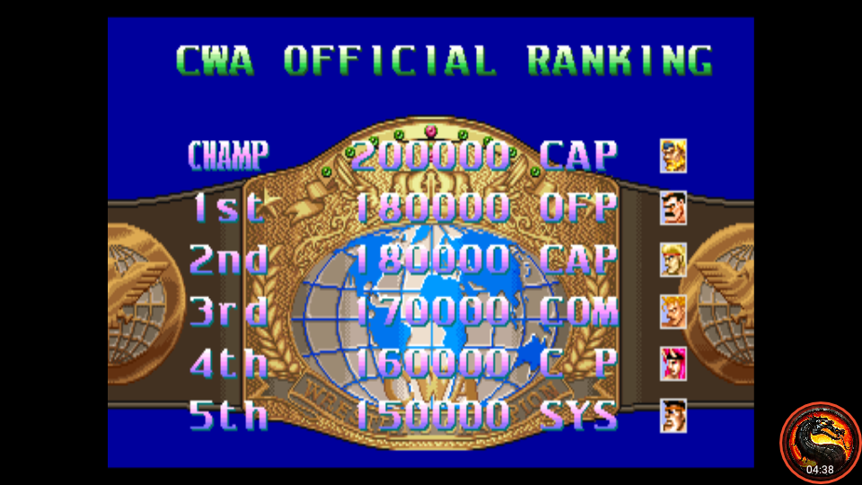omargeddon: Ring Of Destruction: Slam Masters II [ringdest] (Arcade Emulated / M.A.M.E.) 180,000 points on 2020-01-03 00:03:33