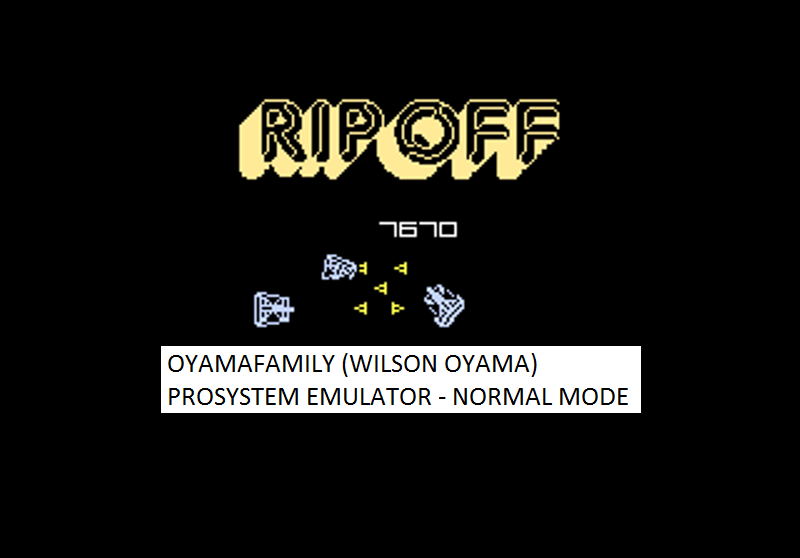oyamafamily: Ripoff: Normal (Atari 7800 Emulated) 7,670 points on 2016-02-28 12:51:09