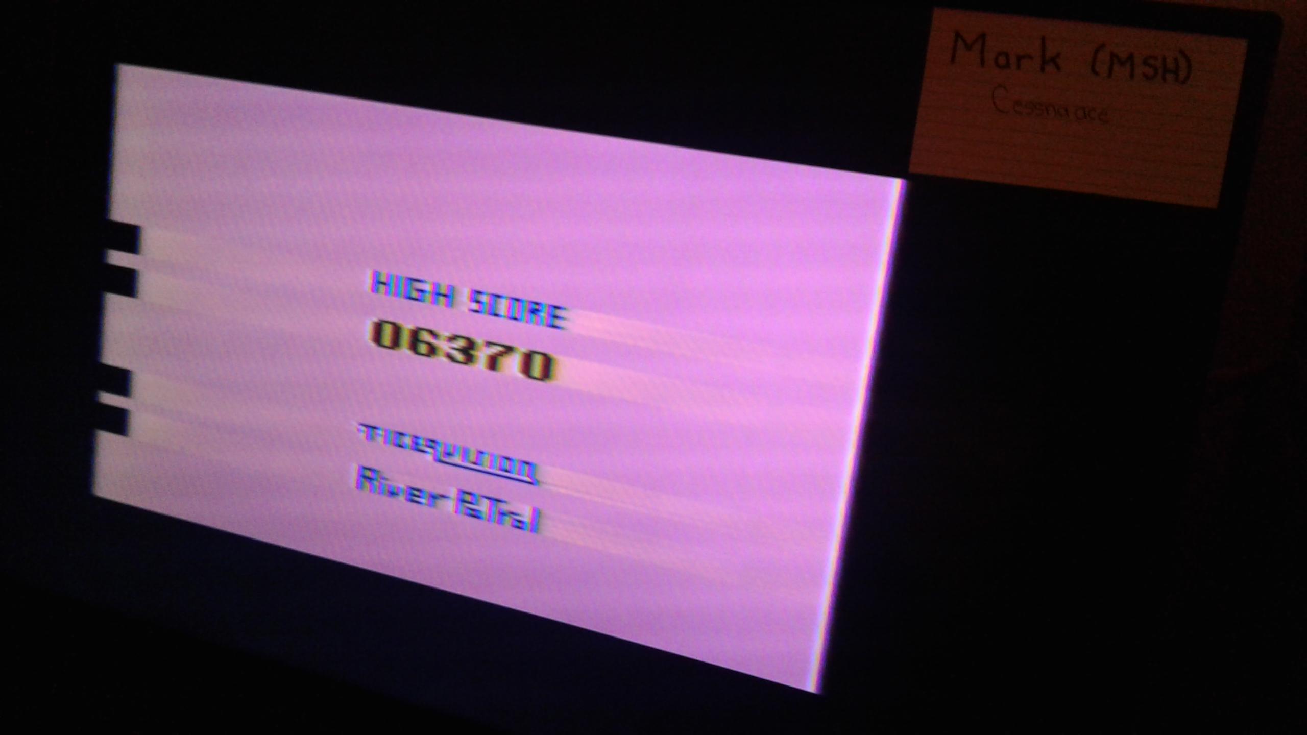 Mark: River Patrol (Atari 2600 Novice/B) 6,370 points on 2019-05-04 01:54:02