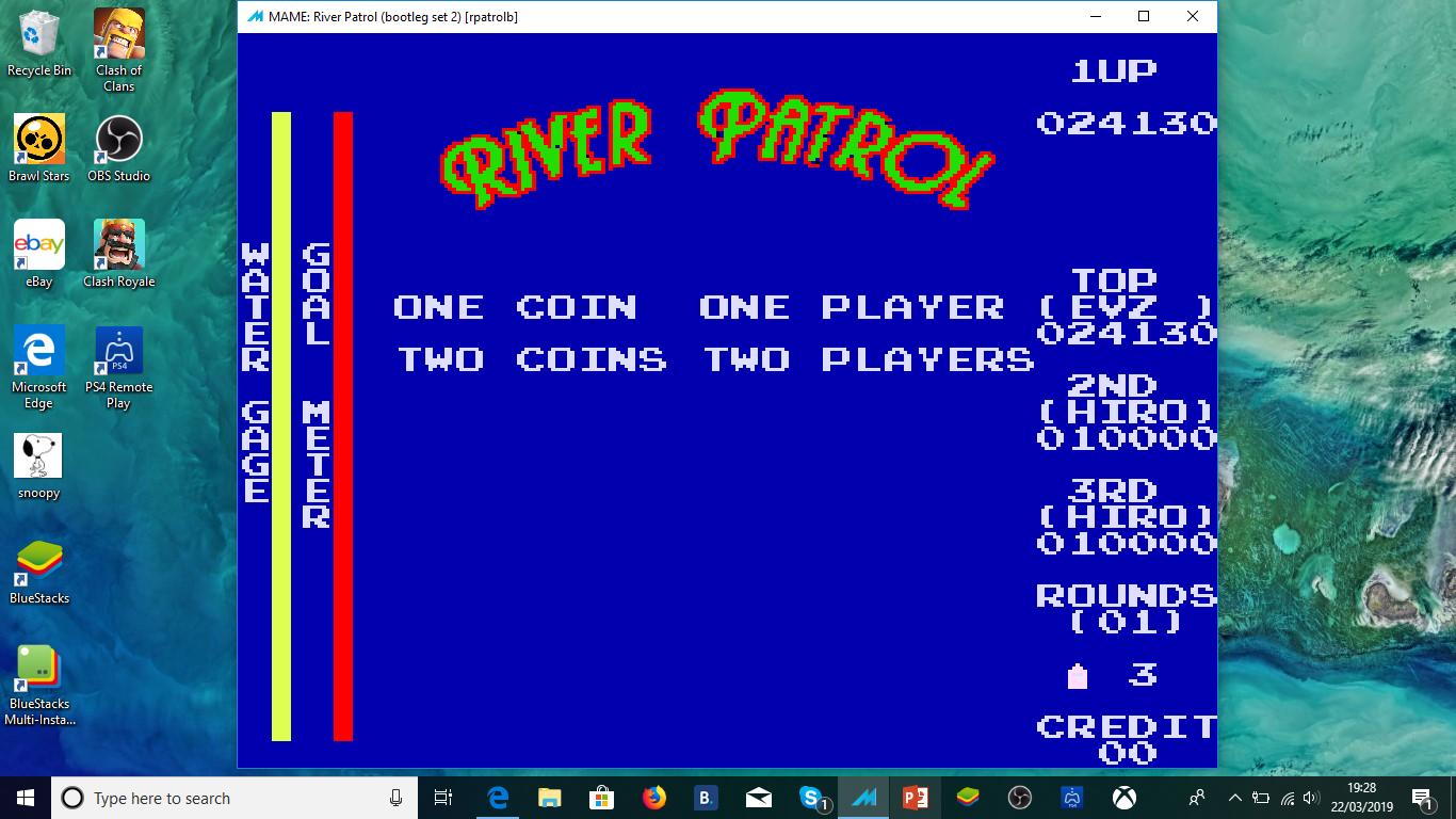 ministorm04: River Patrol [rpatrolb] (Arcade Emulated / M.A.M.E.) 24,130 points on 2019-03-22 14:53:02