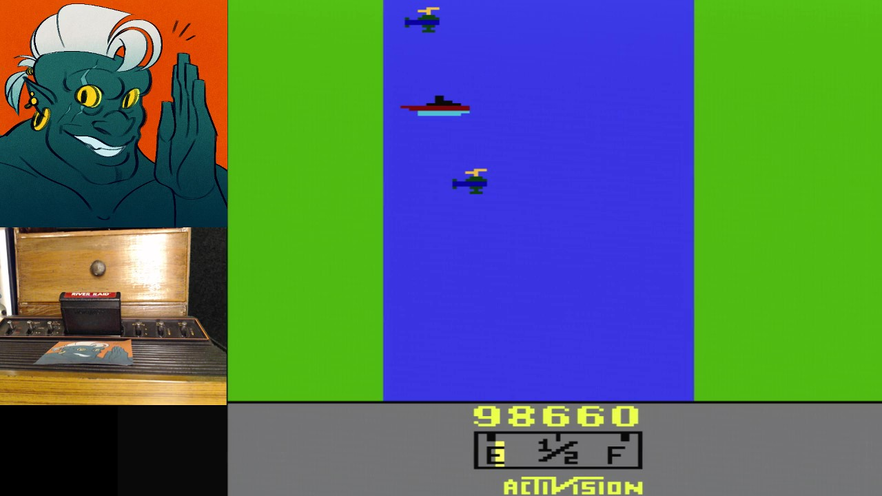 AwesomeOgre: River Raid (Atari 2600 Expert/A) 98,660 points on 2019-02-16 11:16:47