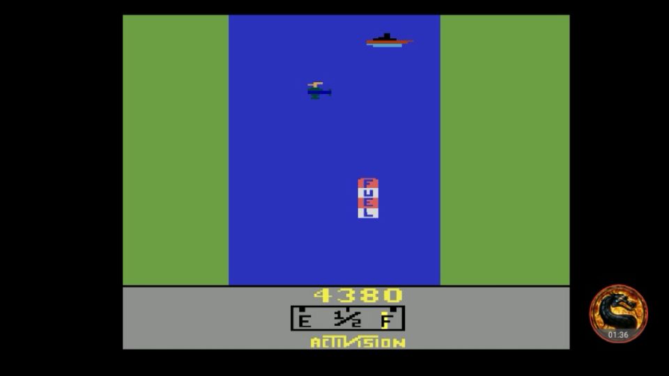 omargeddon: River Raid (Atari 2600 Emulated Expert/A Mode) 4,380 points on 2018-07-23 00:53:28
