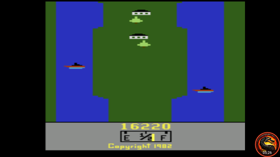 omargeddon: River Raid (Atari 2600 Emulated Expert/A Mode) 16,220 points on 2020-07-26 01:52:40