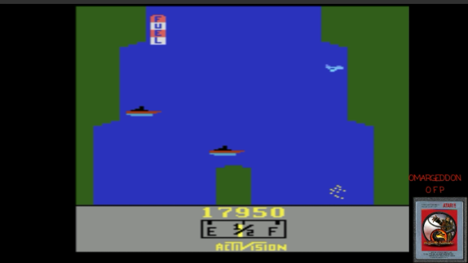 omargeddon: River Raid (Atari 2600 Emulated Novice/B Mode) 17,950 points on 2017-02-25 00:05:23