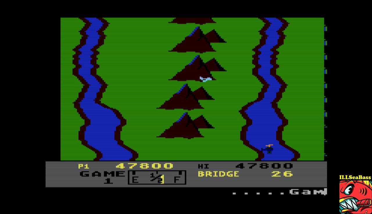 ILLSeaBass: River Raid (Atari 400/800/XL/XE Emulated) 47,800 points on 2017-01-08 22:10:32