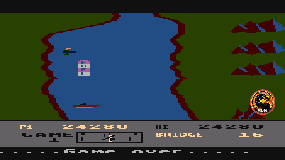 omargeddon: River Raid (Atari 400/800/XL/XE Emulated) 24,280 points on 2019-02-14 21:05:33