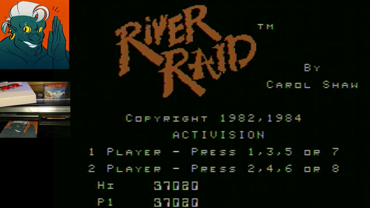 AwesomeOgre: River Raid (Colecovision) 37,020 points on 2019-02-17 19:48:51
