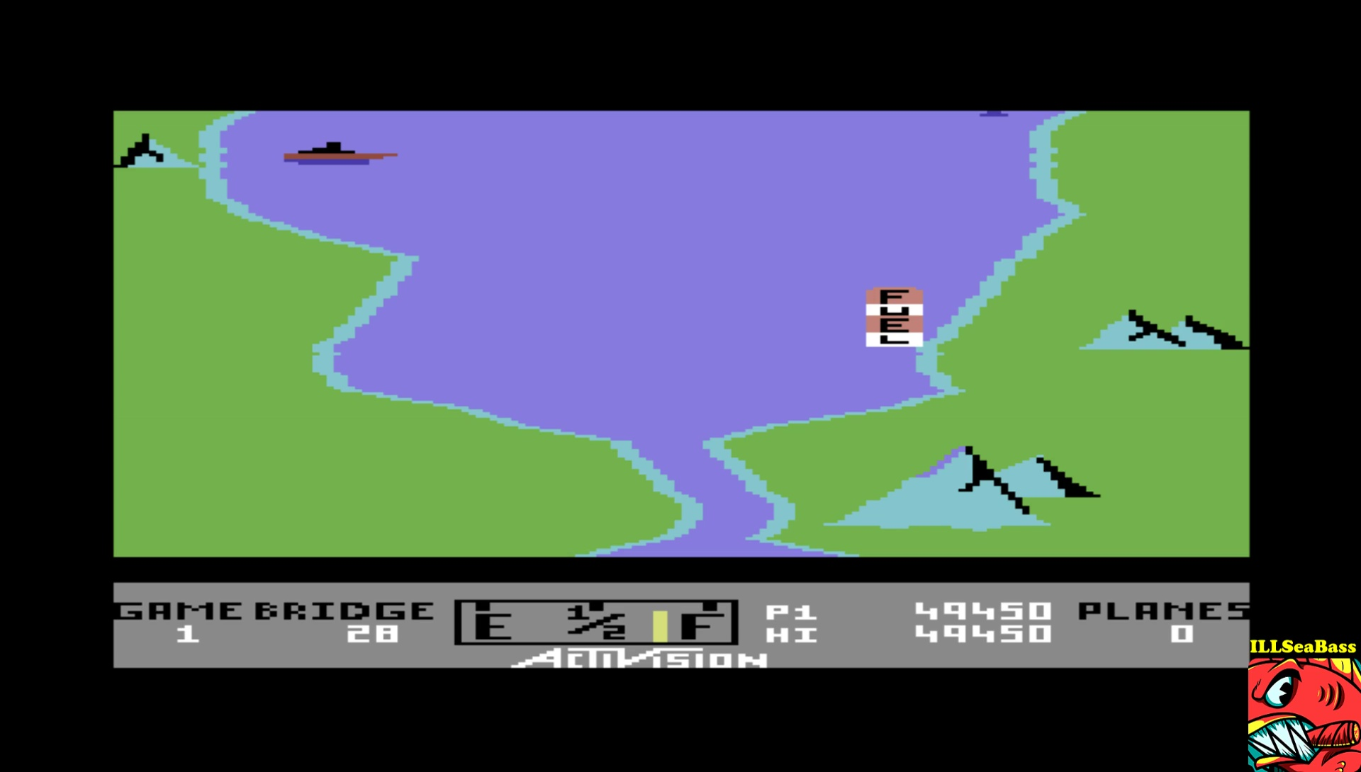 ILLSeaBass: River Raid (Commodore 64 Emulated) 49,450 points on 2017-04-18 00:01:04
