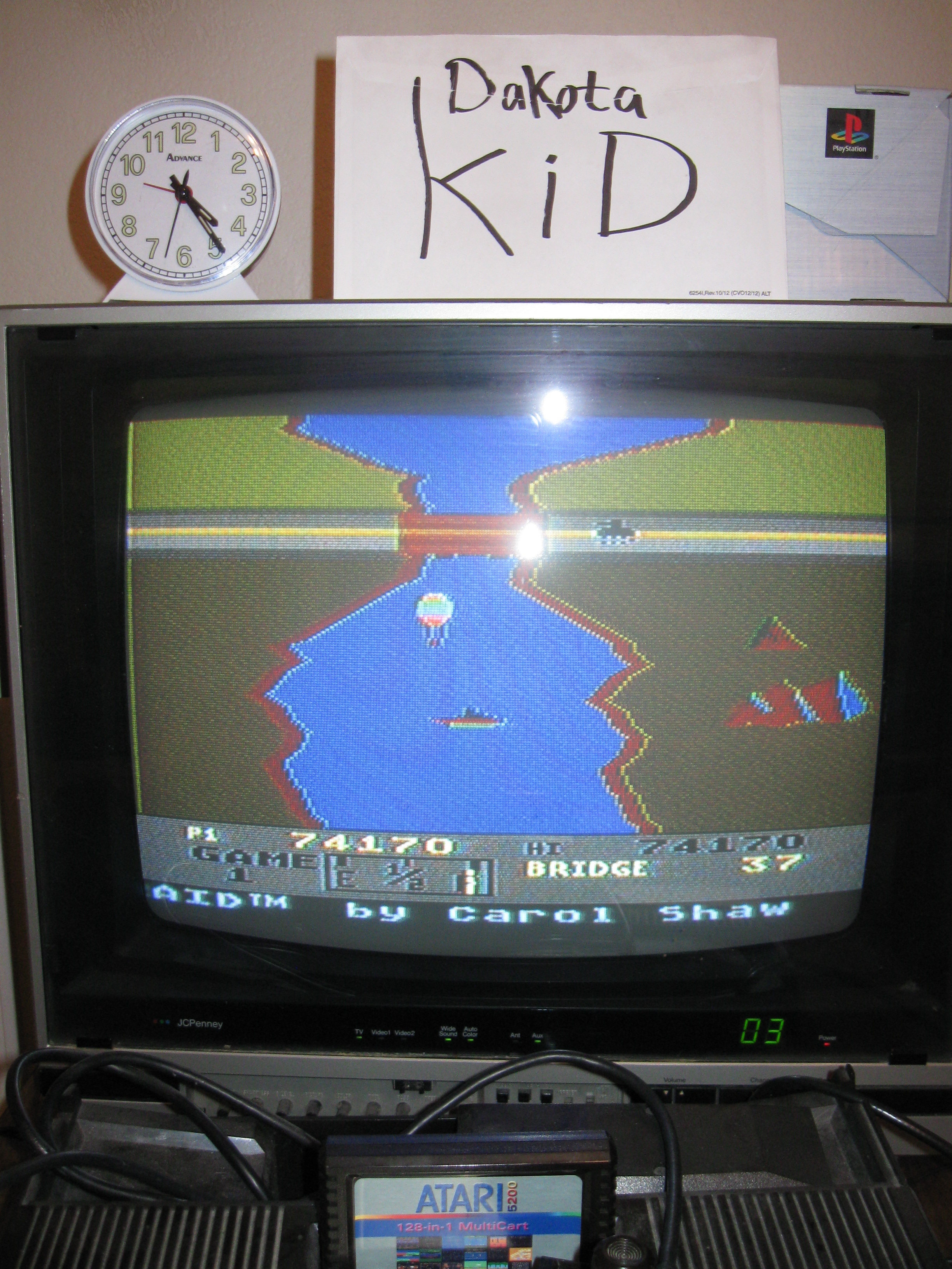 DakotaKid: River Raid: Game 1 (Atari 5200) 74,170 points on 2016-04-14 19:07:32