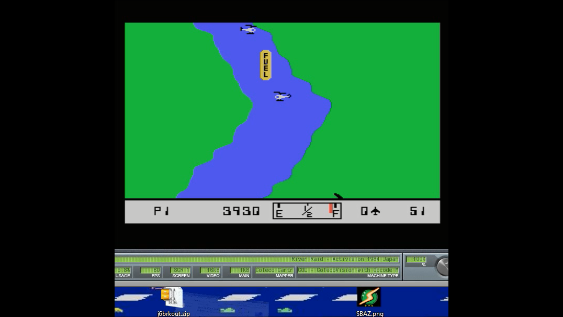 S.BAZ: River Raid [Game 7] (Colecovision Emulated) 3,930 points on 2018-09-12 20:56:09