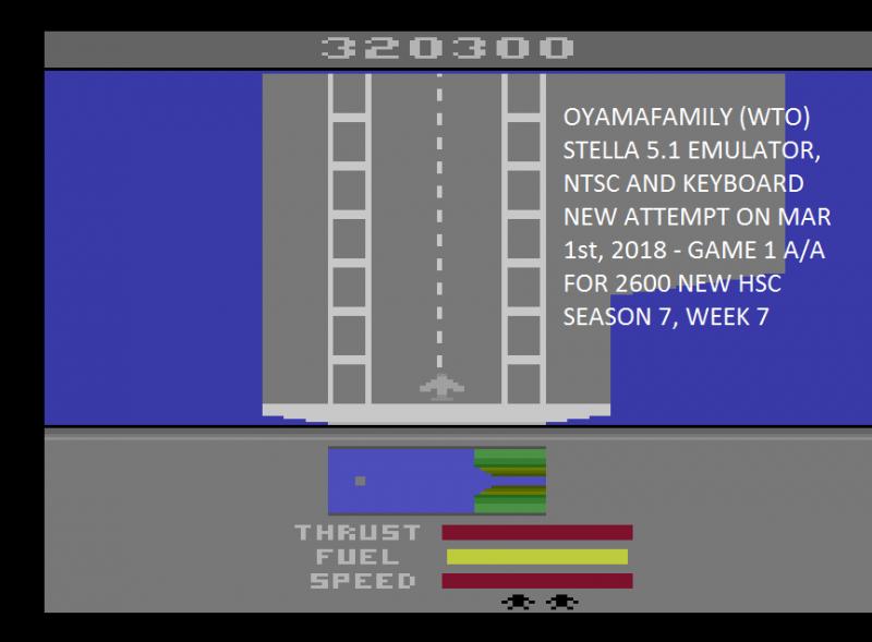 oyamafamily: River Raid II (Atari 2600 Emulated Expert/A Mode) 320,300 points on 2020-04-05 13:43:27