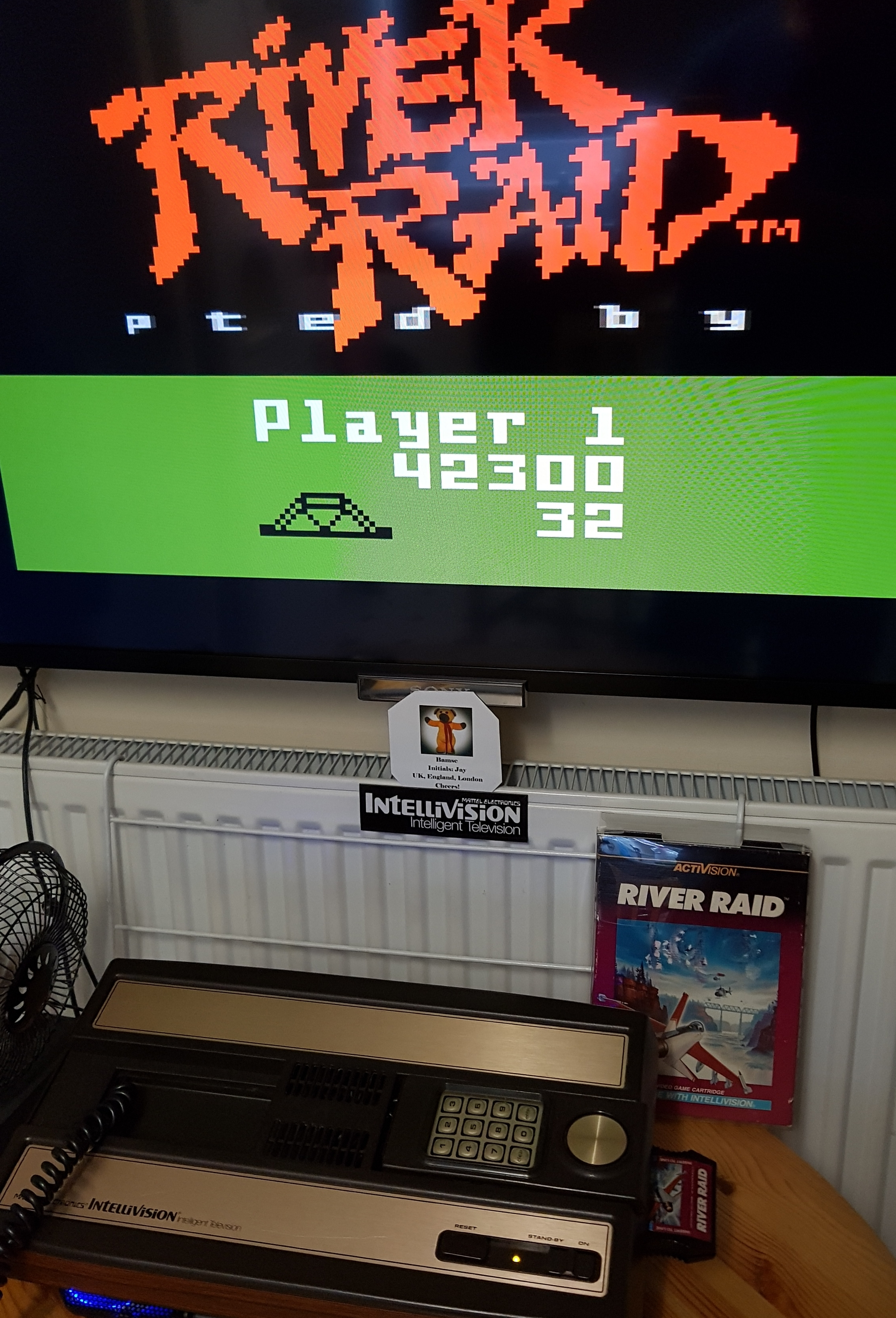 Bamse: River Raid (Intellivision) 42,300 points on 2019-06-06 03:38:59