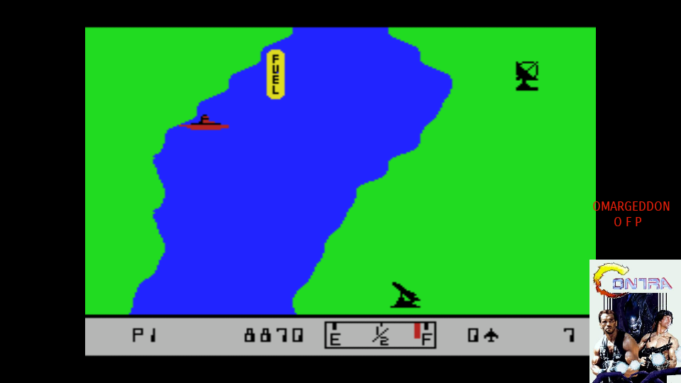 omargeddon: River Raid (MSX Emulated) 8,870 points on 2017-07-23 14:06:26