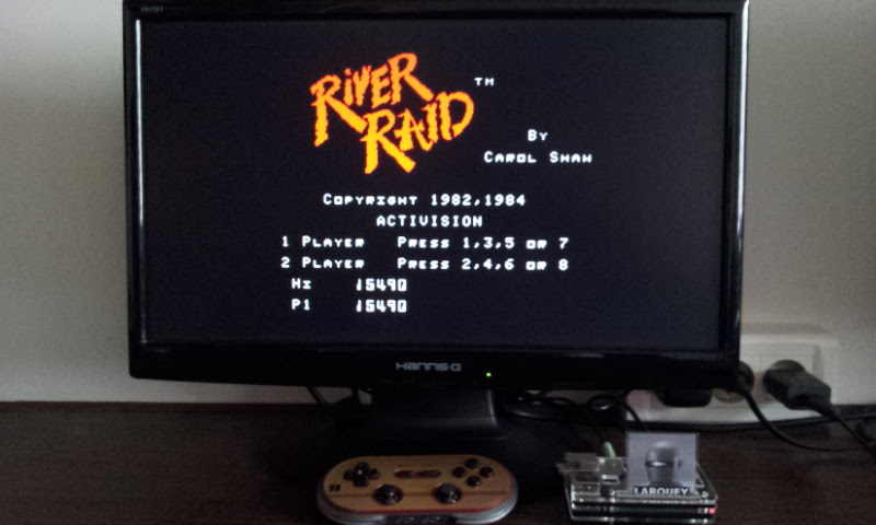 Larquey: River Raid (MSX Emulated) 15,490 points on 2017-07-30 09:26:11