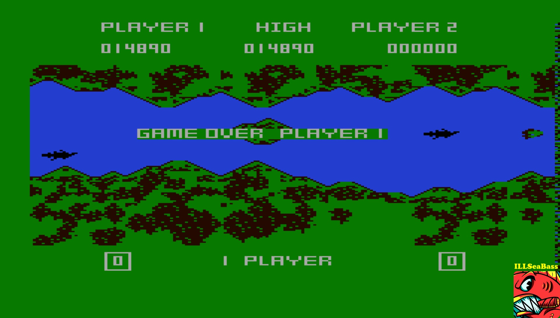 ILLSeaBass: River Rescue (Atari 400/800/XL/XE Emulated) 14,890 points on 2017-05-18 22:01:43