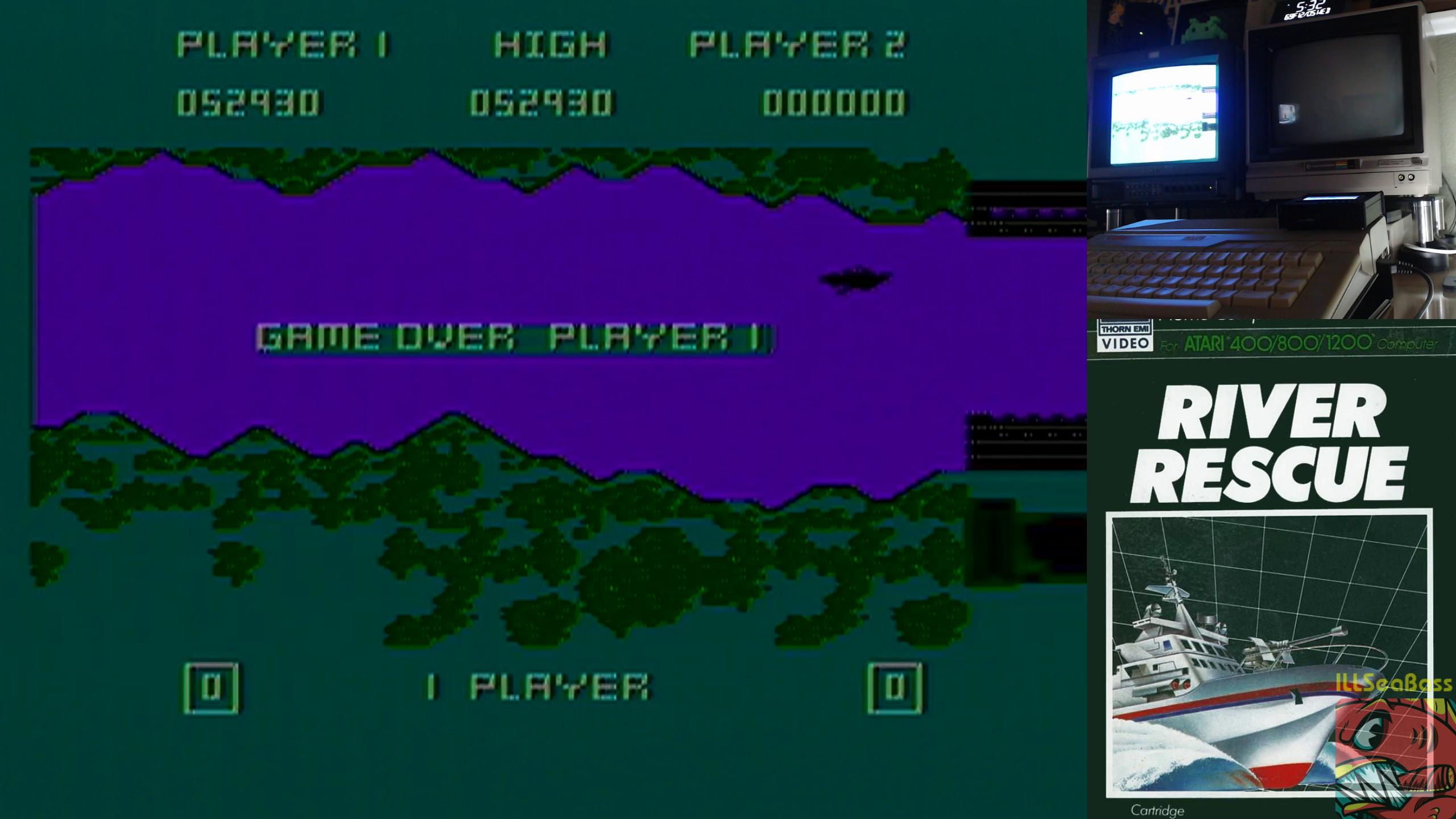 ILLSeaBass: River Rescue (Atari 400/800/XL/XE) 52,930 points on 2018-12-05 20:27:54
