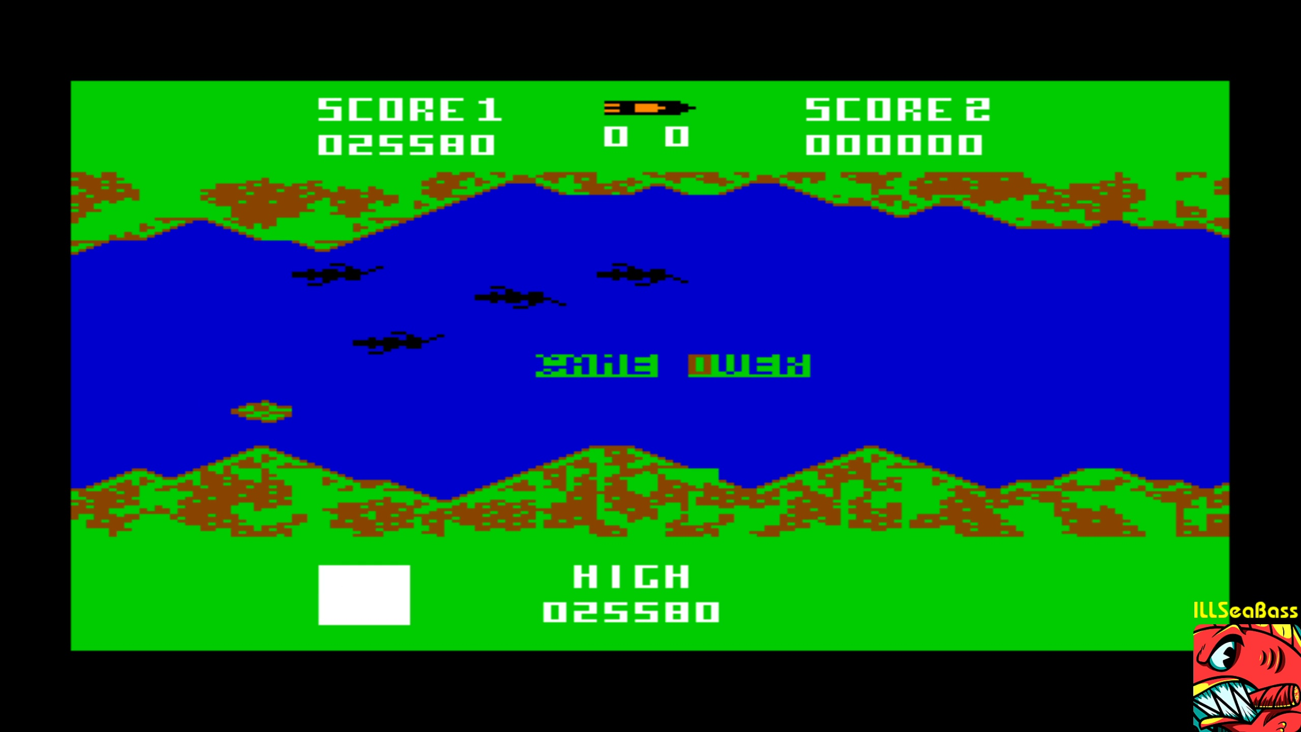 ILLSeaBass: River Rescue (Commodore 64 Emulated) 25,580 points on 2018-02-13 01:06:47
