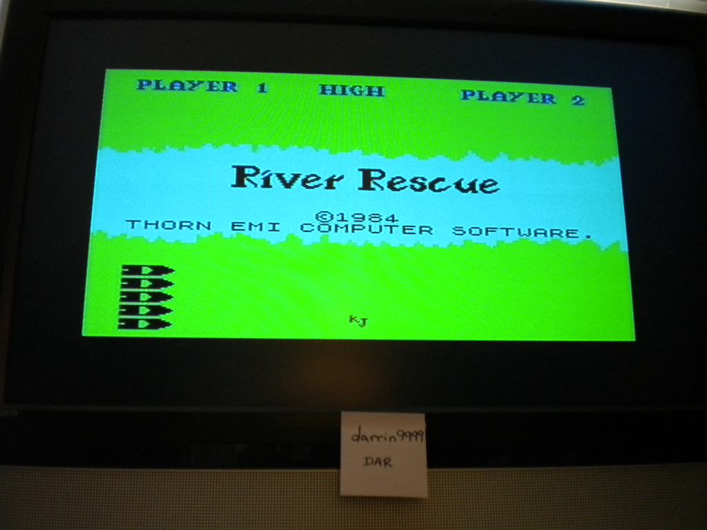 darrin9999: River Rescue (ZX Spectrum Emulated) 1,290 points on 2016-09-01 12:31:47