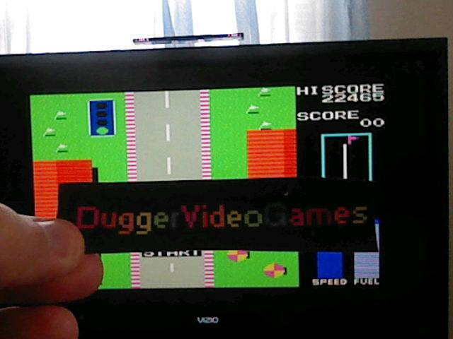 DuggerVideoGames: Road Fighter (Colecovision Emulated) 22,465 points on 2017-07-27 00:07:50