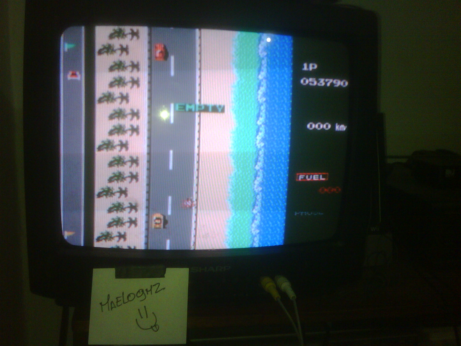 maelogmz: Road Fighter: Level 1 (NES/Famicom Emulated) 53,790 points on 2016-09-17 19:43:53