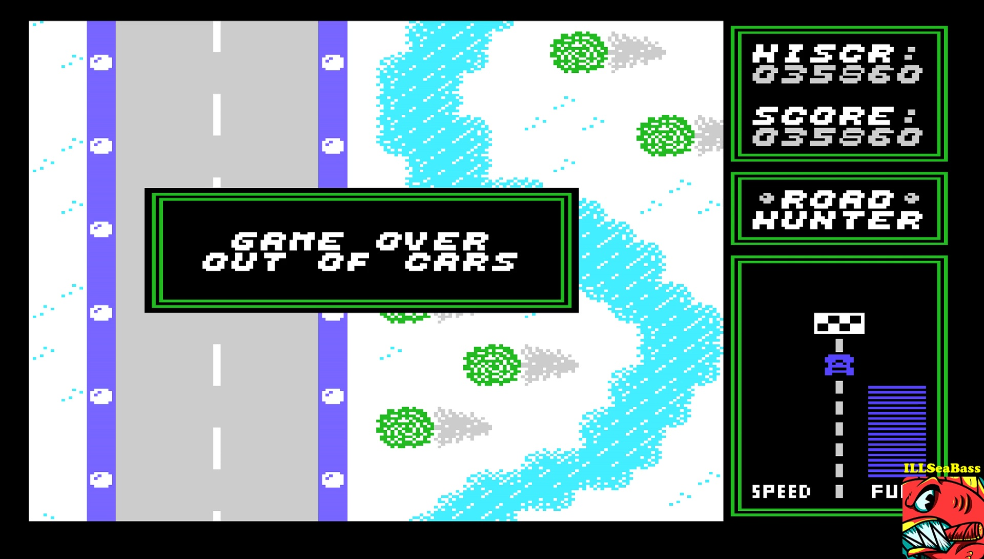 ILLSeaBass: Road Hunter (TI 99/4A Emulated) 35,860 points on 2017-05-03 01:08:41