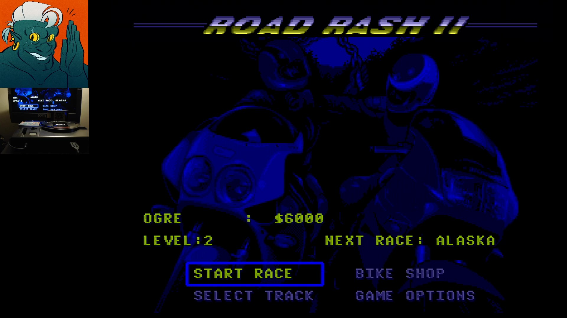 AwesomeOgre: Road Rash II [Total Money Earned] (Sega Genesis / MegaDrive) 6,000 points on 2019-11-13 11:49:02