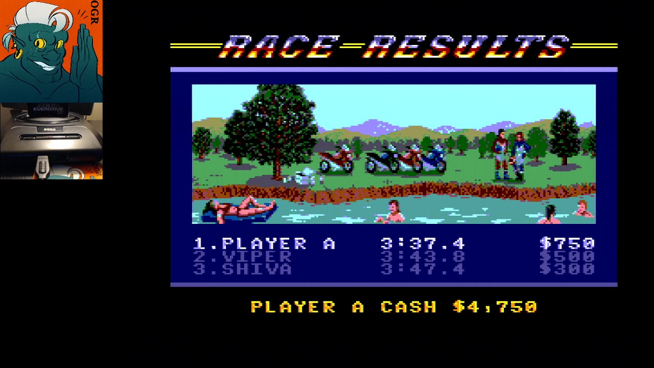 AwesomeOgre: Road Rash [Total Money Earned] (Sega Master System) 4,750 points on 2020-03-28 10:26:00