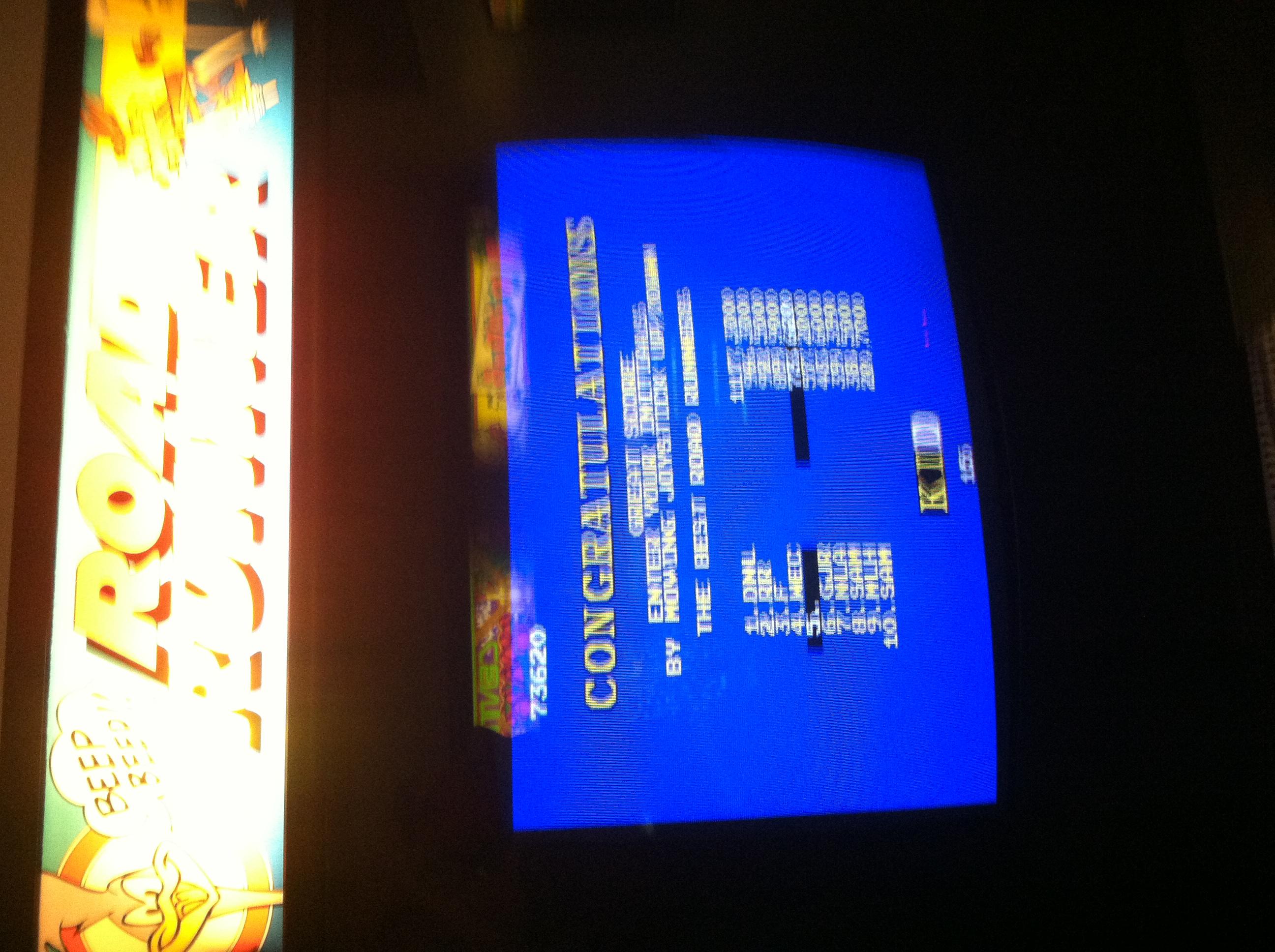 DakotaKid: Road Runner (Arcade) 73,620 points on 2019-02-22 23:06:31