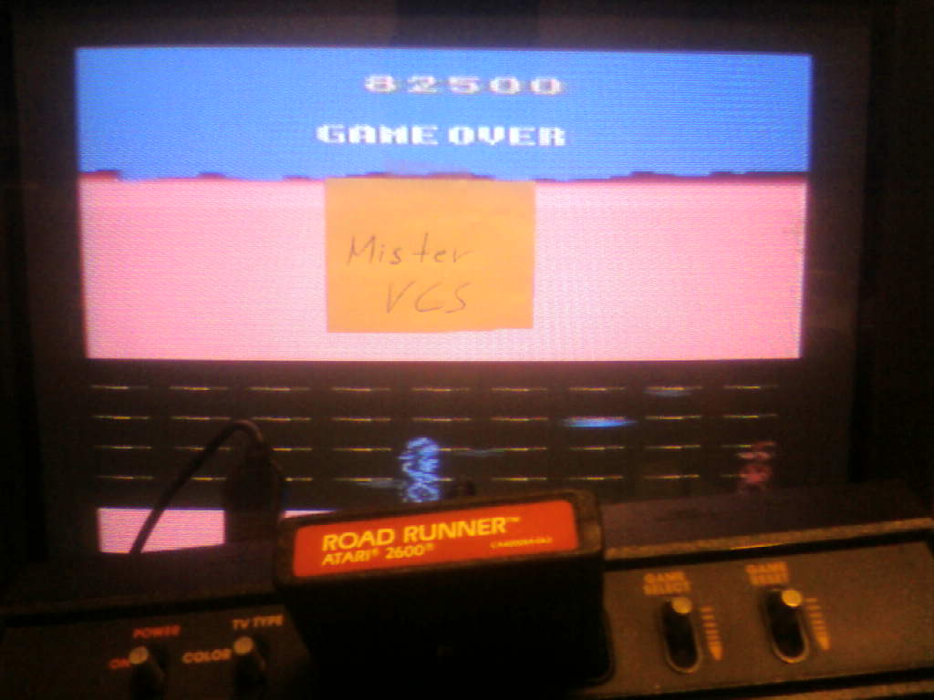 MisterVCS: Road Runner (Atari 2600 Novice/B) 82,500 points on 2016-01-07 13:14:06