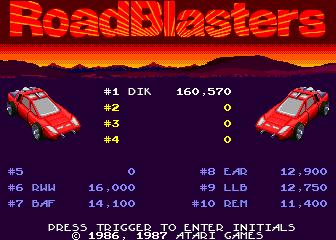 RoadBlasters [Level 1 Start] 160,570 points