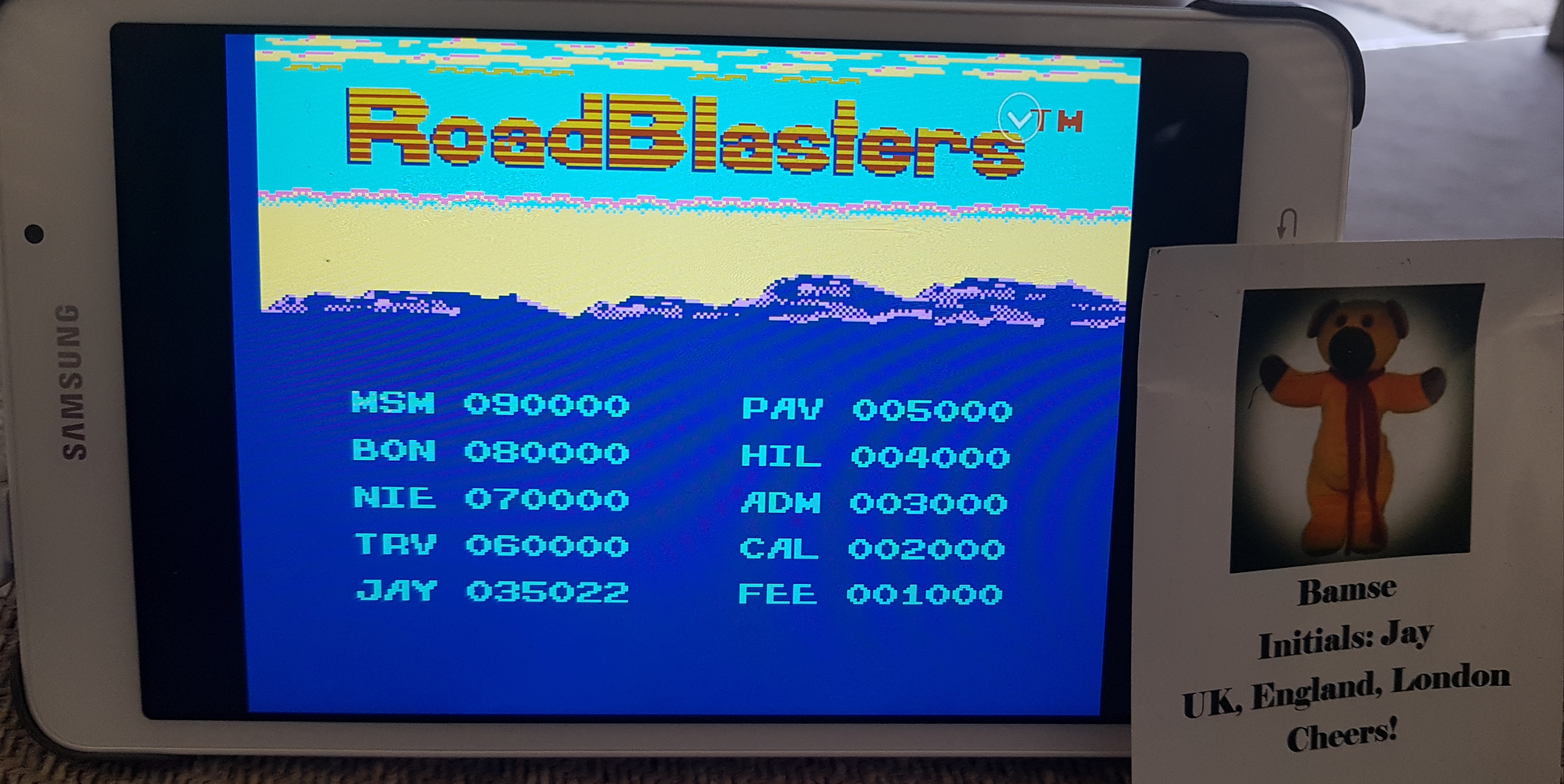 Bamse: RoadBlasters [Level 1 Start] (NES/Famicom Emulated) 35,022 points on 2019-07-04 14:13:09