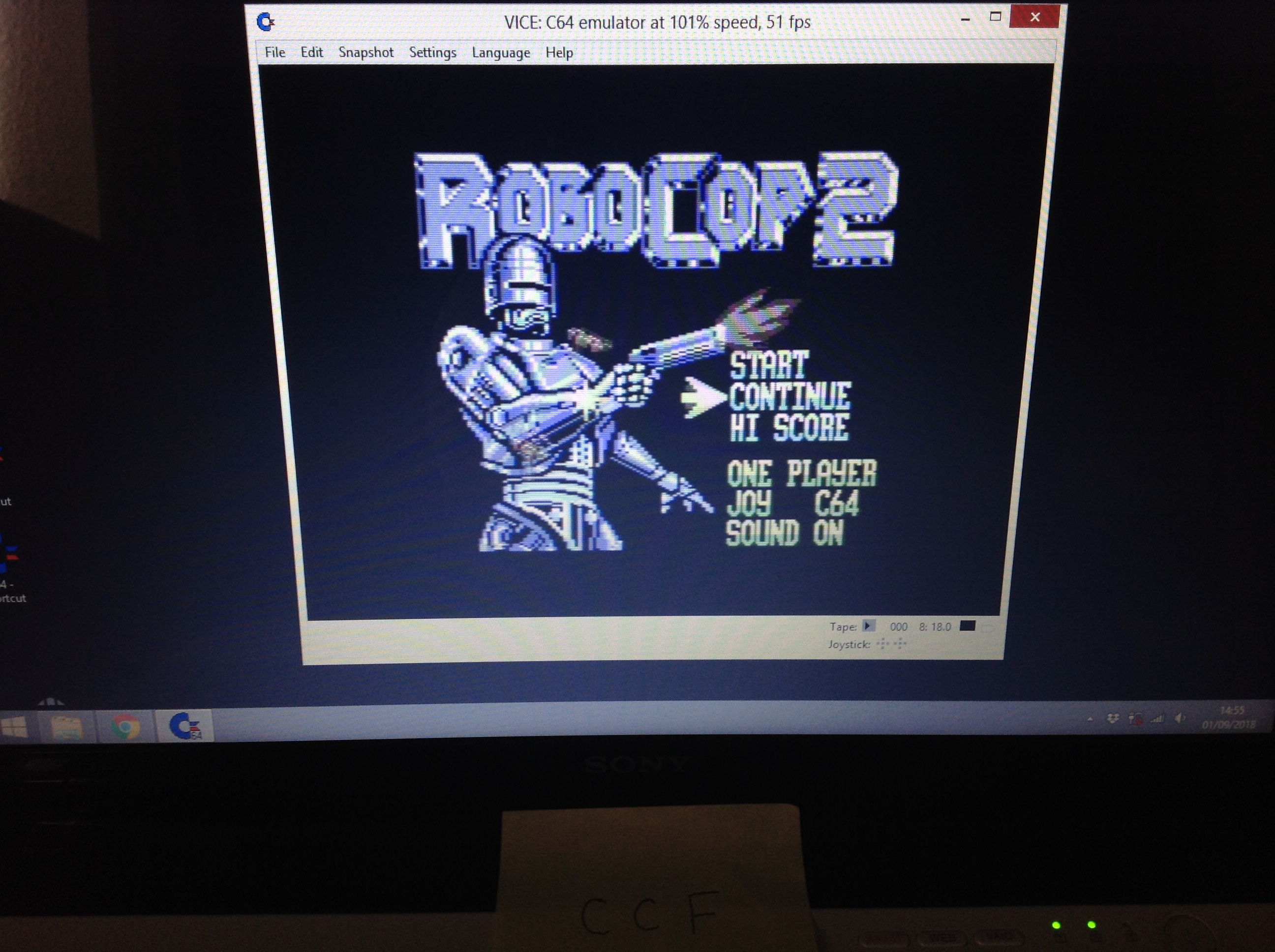 CoCoForest: Robocop 2 (Commodore 64 Emulated) 489,500 points on 2018-09-01 08:56:41