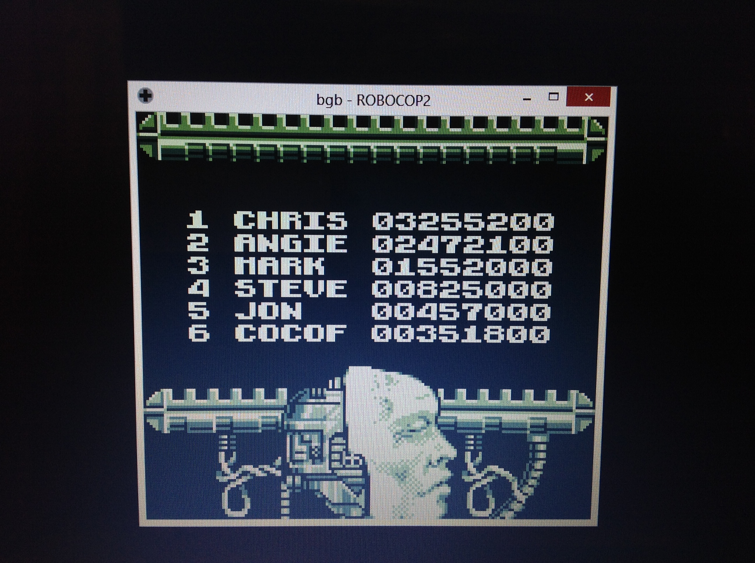 CoCoForest: Robocop 2 (Game Boy Emulated) 351,800 points on 2018-10-13 13:31:57