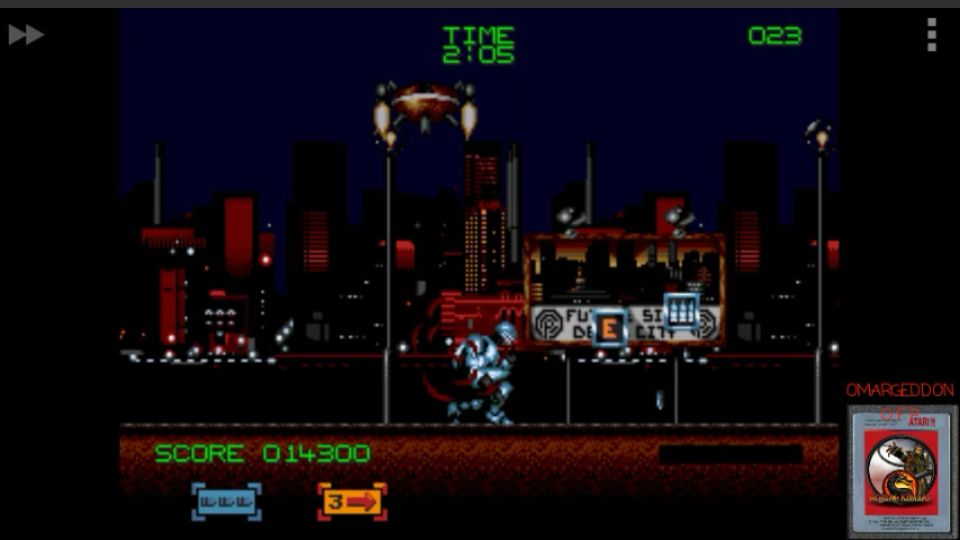 omargeddon: Robocop 3 (Sega Genesis / MegaDrive Emulated) 14,300 points on 2017-03-24 00:32:57
