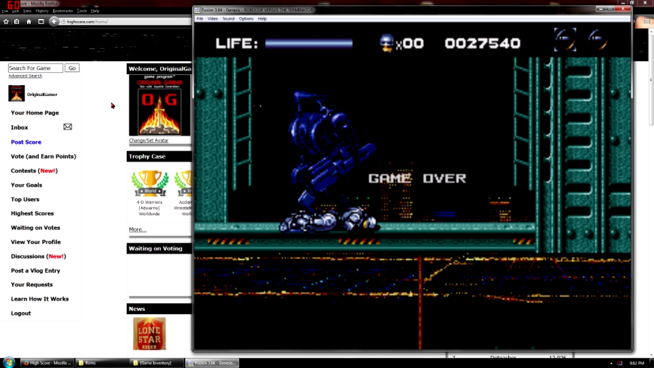 OriginalGamer: Robocop Versus Terminator (Sega Genesis / MegaDrive Emulated) 27,540 points on 2015-09-07 23:19:50