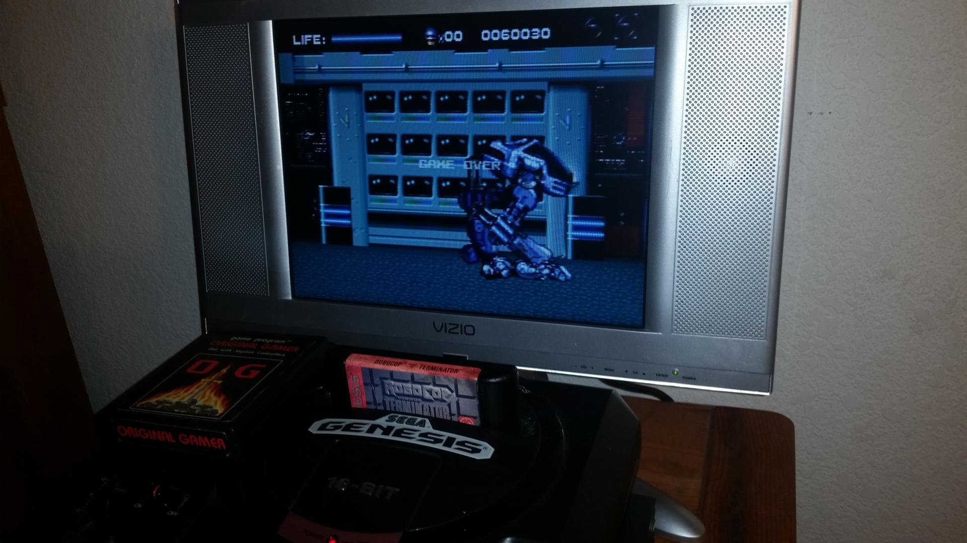 OriginalGamer: Robocop Versus Terminator (Sega Genesis / MegaDrive) 60,030 points on 2016-11-17 00:56:25