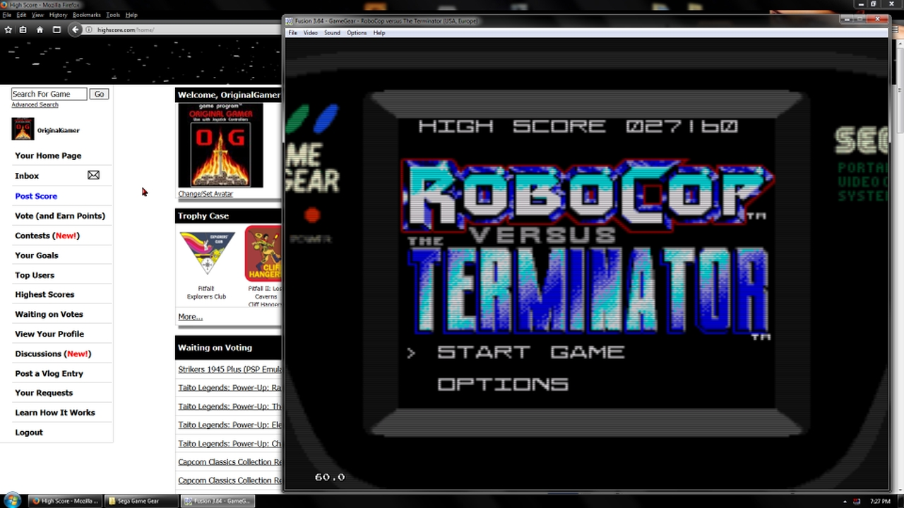 OriginalGamer: Robocop Versus the Terminator [Normal] (Sega Game Gear Emulated) 27,160 points on 2018-02-19 19:18:27
