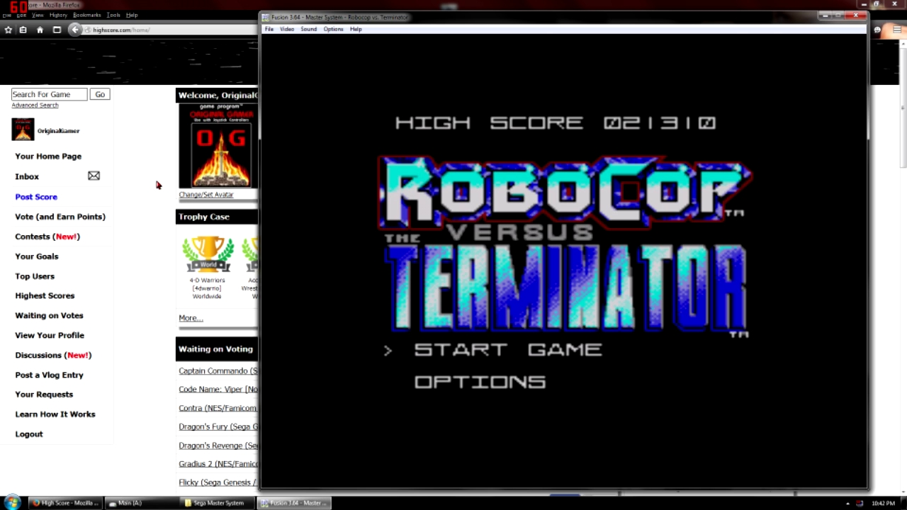OriginalGamer: Robocop vs Terminator [Normal] (Sega Master System Emulated) 21,310 points on 2015-10-03 18:42:33