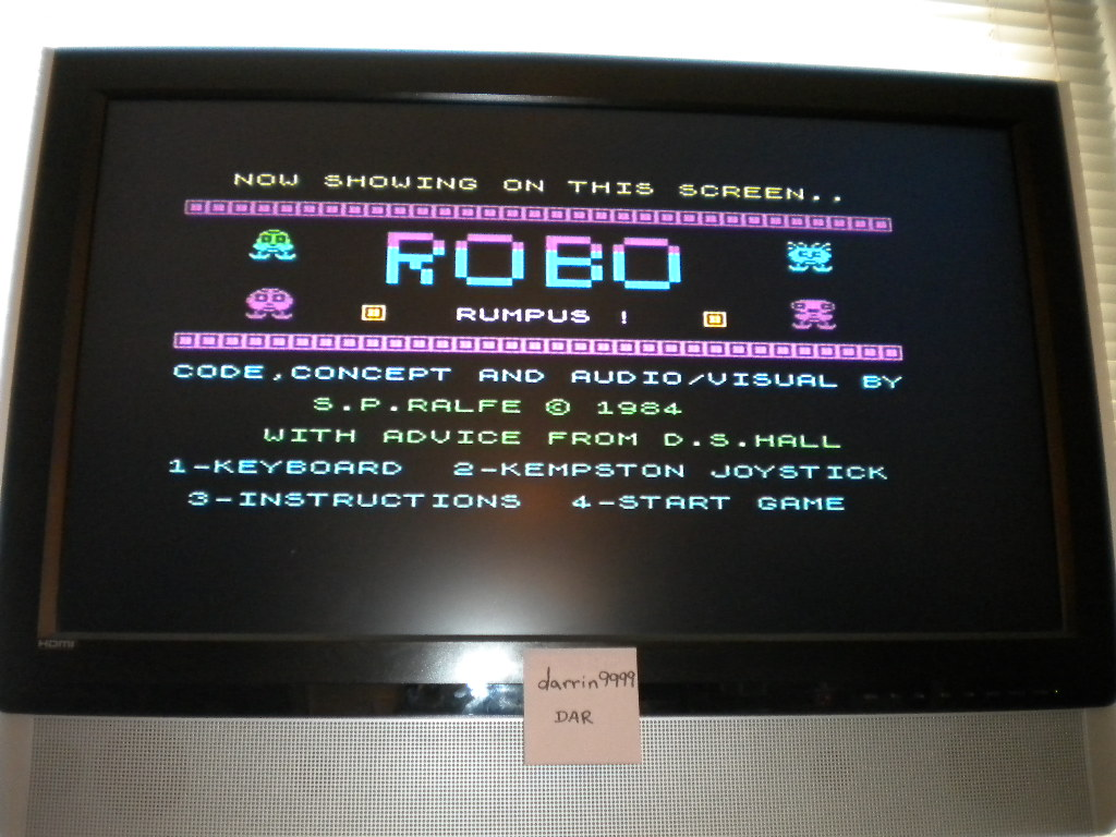 darrin9999: Robot Rumpus (ZX Spectrum Emulated) 80 points on 2016-09-05 19:45:18