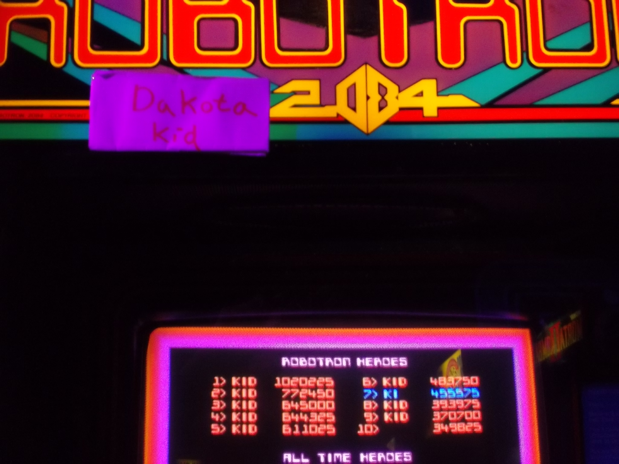 Robotron 2084 1,020,225 points