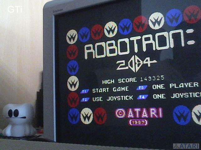 GTibel: Robotron 2084 (Atari ST) 149,325 points on 2017-07-15 04:45:29